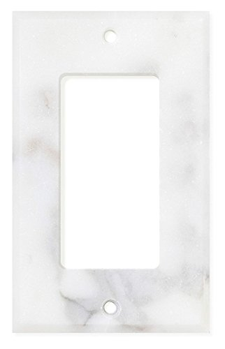 Italian Calacatta Gold Marble Switch Plate Cover, Polished (SINGLE ROCKER)