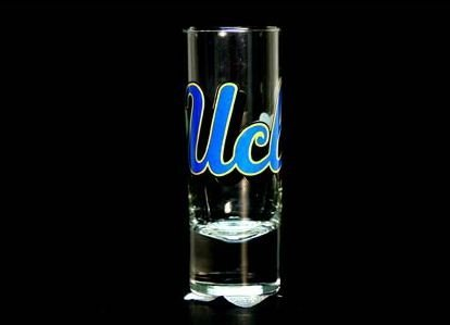 NCAA Licensed 2.5 Oz. Shooter Hype Cordial Style Shot Glass (UCLA (Ucla Glass)