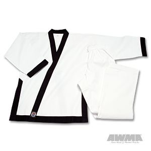 "ProForce 8oz Medium Weight Tang Soo Do Uniform - Black - Size 4 (5'7"" / 185lbs)"