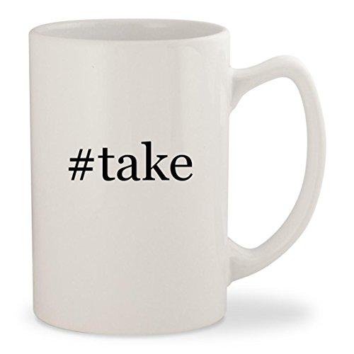 #take - White Hashtag 14oz Ceramic Statesman Coffee Mug Cup