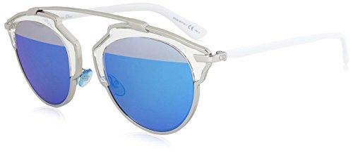 Christian Dior Women's Soreal L187R Sunglasses, Gunmetal/White - Frame Dior White Sunglasses
