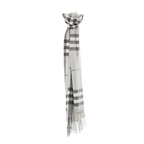 Burberry Women's Giant Check Scarf Pale Grey