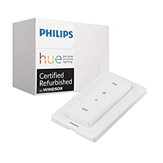 Philips Hue Smart Dimmer Switch with Remote - Installation-Free, Exclusive for Philips Hue Lights, Compatible with Alexa (Renewed)