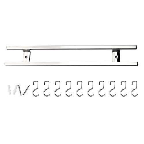 RUCKAE Magnetic Knife strip 16 Inch-Magnetic Knife Holder Wall Mount-Knife Rack Strip With 10 hooks-Kitchen Utensil Holder by Ruckae (Image #3)