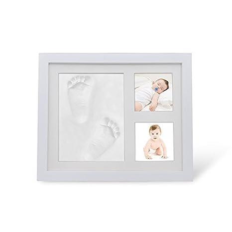 Bebé mano y huella Kit de Marco de fotos para niños y niñas, mejor bebé