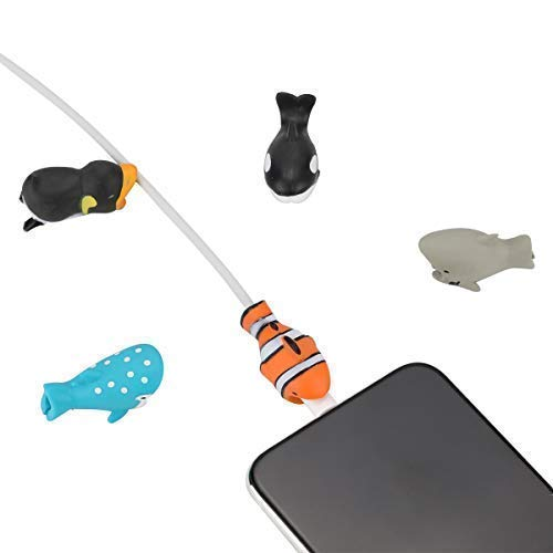 Epessa 5 PCS Cable Bites for iPhone Cable, Marine Animals|Terrestrial Animals|Dinosaurs and Fish|Animal Bite Cable Protector are Available (Marine Animals) by Epessa (Image #5)