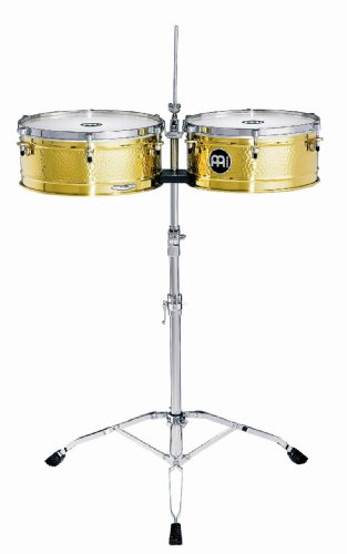 Meinl Percussion LC1BRASS Artist Series Luis Conte Signature Solid Brass Timbales, 14-Inch and 15-Inch by Meinl Percussion