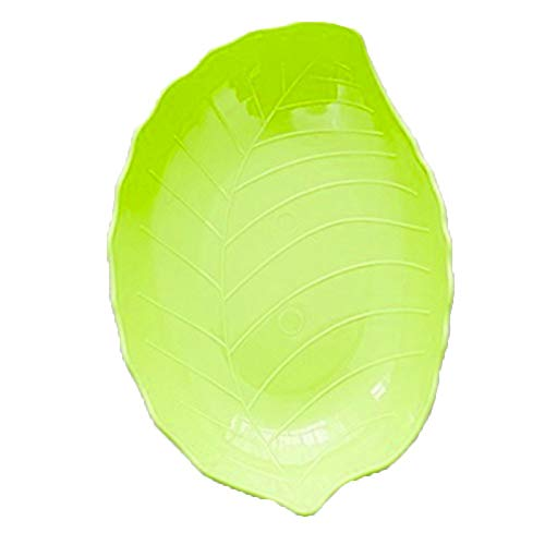 Emily Fashion Creative Multi-Colored Leaf-Shaped Fruit Bowl Plastic Candy Dish Green
