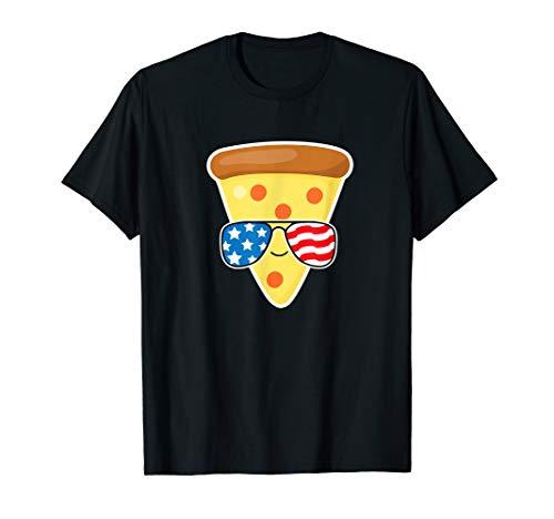 July 4th Pizza Tshirt American Flag USA Fourth Cute Kids T-Shirt ()