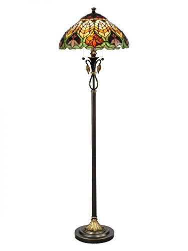 (Dale Tiffany TF50012 Sir Henry Floor Lamp, Antique Brass)