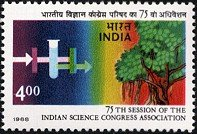 Bodhi Four Light - Sams Shopping 75th Session of The Indian Science Congress Association Conference Association Science Experiment Frequency of Light Bodhi Tree Rs 4 Commemorative Stamp