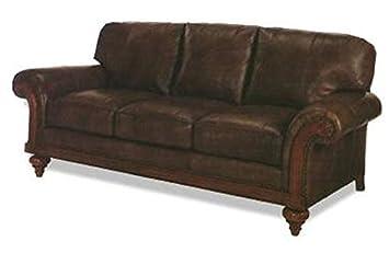 Amazon.com: EuroLuxHome New Leather Sofa Wood Top Grain ...
