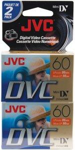 JVC 60MIN MINI DV TAPE 2PK S/O