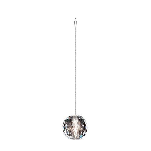 WAC Lighting QP930-CL/CH Polaris Quick Connect Pendant with Clear Shade and Chrome Socket Set (Socket Connect Pendant Quick)