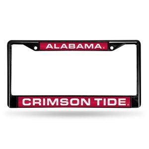 Rico Industries NCAA Alabama Crimson Tide Laser Cut Inlaid Standard Chrome License Plate Frame, 6