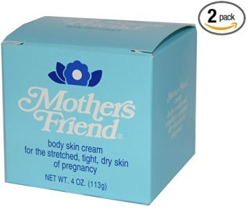 Mothers Friend Body Skin Cream For The Stretched, Tight Dry Skin Of Pregnancy 4 OZ (Pack of 2)
