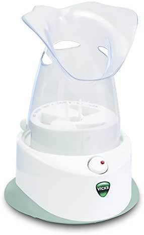Vicks Personal Steam Inhaler, V1200, Face Steamer or Inhaler with Soft Face Mask for Targeted Steam Relief, Aids with Sinus Problems, Congestion, Cough, Use With soothing Menthol Vicks VapoPads
