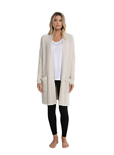Barefoot Dreams CozyChic Lite Long Weekend Cardi, Bisque (X-Large)