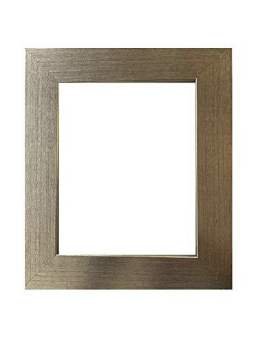 (US Art Frames 23x33 Matte Distressed 2 Inch Wide Silver Foil, Wood Composite MDF Picture Frames #H-11227)
