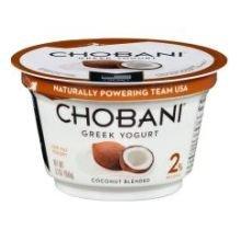 Chobani Low Fat Coconut Blended Greek Yogurt, 5.3 Ounce -- 12 per case.