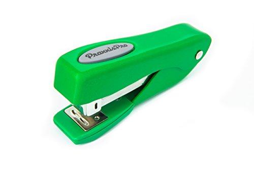 Small Office Stapler, PraxxisPro Fortis Compact Grip, Mini Desktop Stapler (Green)