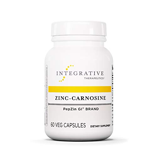 (Integrative Therapeutics - Zinc-Carnosine - PepZin GI Brand - Supports Healthy Gastrointestinal Lining & Relieve Gastric Discomfort - 60 Capsules)