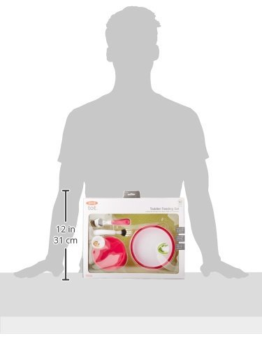 OXO Tot 4-Piece Feeding Set, Pink (4 Pack) by OXO (Image #7)