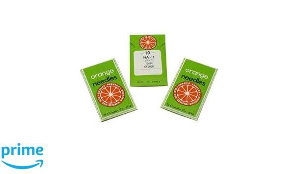 30 Flat Shank Universal Home Orange Sewing Machine Needles 15x1 HAx1 Choose Size