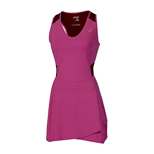 Women Samantha Athlete Oberbekleidung Stosur Asics Damen Dunkelrot Dress Xqfaxw5