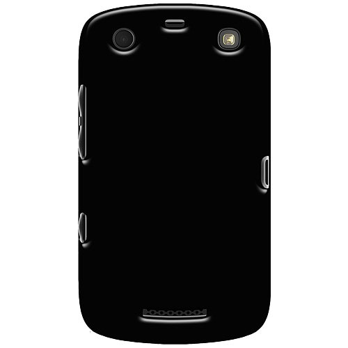 Amzer Soft Gel TPU Gloss Skin Fit Case Cover for BlackBerry Curve 9380 - Retail Packaging - Black ()