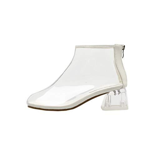 Round Femme Blanc 5 B Éclair Fermeture vabtrt Chaussures Bottes ToeCM Vaneel AHOxn7q6A