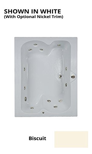 Watertech - 6048 Elite Biscuit Whirlpool Bath (60 in. x 48 in.)