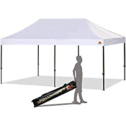 ABCCANOPY 30+Colors Pop up Canopy 10 X 20-Feet Commercial Instant Canopy Kit Ez Pop up Canopy,Bonus Carrying Bag (10x20 White)