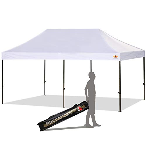 ABCCANOPY 30+Colors Pop up Canopy Folding Heavy Duty Commercial Instant Canopy,Bonus Carrying Bag (10x20 White)
