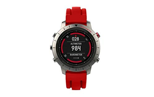 Sunbona for Garmin Fenix Chronos Bracelet Band, Soft Durable Silicone Solid Color Double Ditch Adjustable Sports Replacement Bangle Wrist Strap Women Men Gifts (Red)