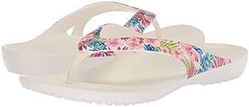 Crocs Women's Kadee Ii Graphic W Flip-flop, Tropical Floralwhite, 8 M Us 4