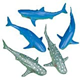Neliblu 6'' Vinyl Toy Sharks 1 Dozen - Set of 12 - Fun for Pool Parties, Ocean-Themed Party Favors and gifts, Party Decorations - Realistic Looking Ocean Animal Toys