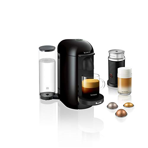 Breville BNV420IBL1BUC1 Nespresso VertuoPlus Bundle Ink Black single-serve, capsule espresso maker