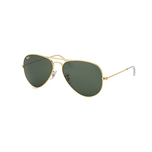 Ray-Ban Gold Aviator RB 3025 W3234 55mm + Free SD Glasses + Cleaning - W3234 Rb3025