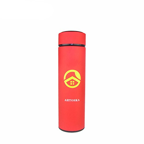 Creative Design Thermal Mug Hot Water Cup Super Insulated Vacuum Flasks Suitable For Tea(red)
