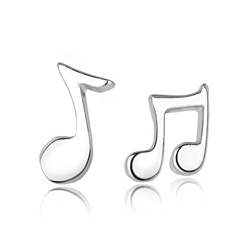 Price comparison product image The November Nocturne Musical Note Silver Plated Women Beauty Earring Personality Accessory