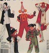McCalls 2623 Childs Medium (6 to 8) Clown Costume Sewing Pattern Vintage (Clown Costume Patterns)
