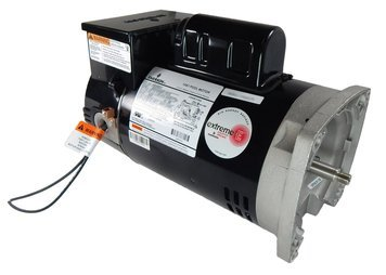 Square Speed 2 Flange Motor - 1.5 hp 2-Speed 56Y Frame 230V Square Flange Pool Motor with Timer US Electric Motor # ASB2983T