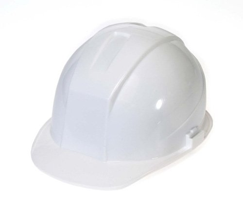 - Liberty DuraShell HDPE Cap Style Hard Hat with 6 Point Ratchet Suspension, White (Case of 6)