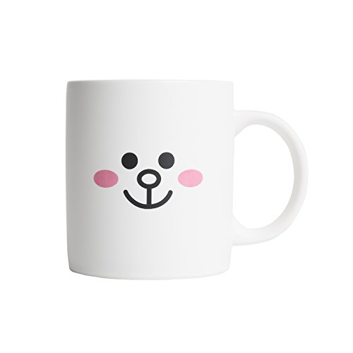LINE FRIENDS Cony Two Face Ceramic Mug 12 Ounce White (Adult Twoface Costume)