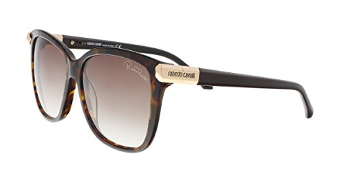 Roberto Cavalli RC902S 52F MENKENT Dark Havana Square Sunglasses for ()