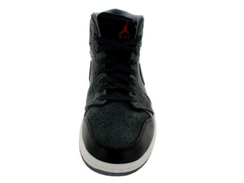 Nike Jordan Heren Air Jordan 1 Zwart / Gym Rood / Anthrct / Cl Gry Basketbalschoen