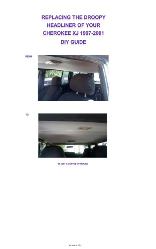 diy replace jeep cherokee xj 97 01 droopy headliner the perfect