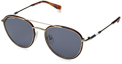 Lacoste Men's L102snd Metal Oval Novak Djokovic Capsule Collection Sunglasses, Gold, 51 ()