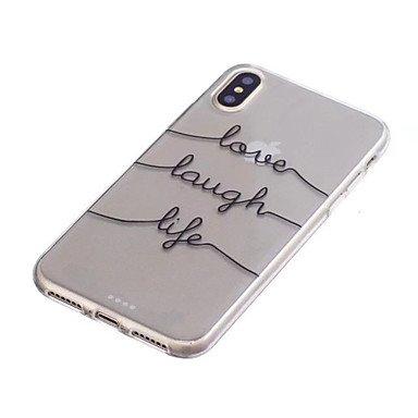Fundas y estuches para teléfonos móviles, Funda Para Apple iPhone X iPhone 8 Plus Traslúcido Funda Trasera Palabra / Frase Suave TPU para iPhone X iPhone 8 Plus iPhone 7 Plus ( Modelos Compatibles : I IPhone 7
